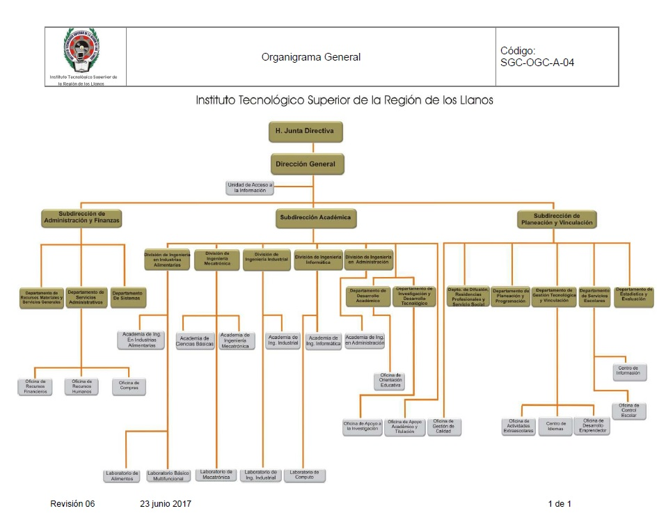 Organigrama ITSRLL